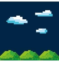 game scene pixelated background vector image