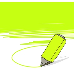 highlighter concept vector image vector image