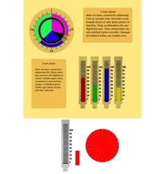 Infographic Pie Chart Graph with scale vector image