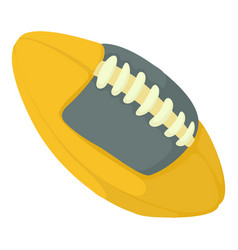rugby ball icon cartoon style vector image