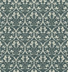 Seamless floral damask background vector image