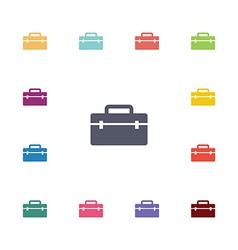 tools box flat icons set vector image