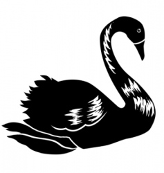 abstract black swan vector image