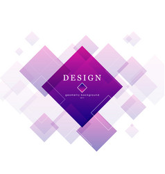 Abstract rhomb with gradient blue and pink vector
