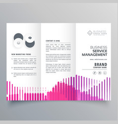 abstract trifold business brochure template vector image