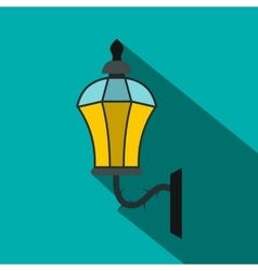 An old lamp in London icon flat style vector