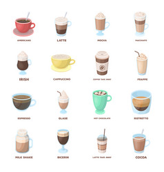 And other varieties of coffeedifferent kinds of vector