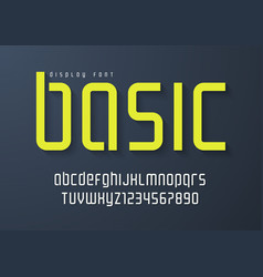 Basic display font design alphabet typeface vector