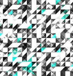 Blue color grunge triangle seamless pattern vector