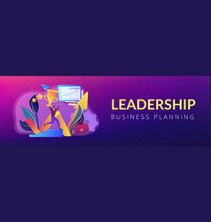business success concept banner header vector image