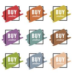 buy online icon set vector image