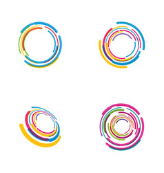 Circle techno icon design vector