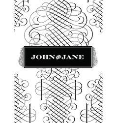 Classic Victorian fancy elements vector image