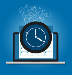 clock and calendar symbol availability support vector image