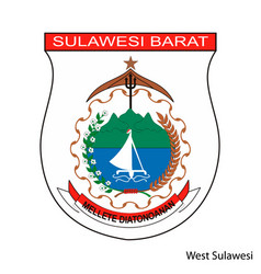 Coat arms west sulawesi is a indonesian vector