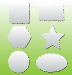 collection different shape paper tears vector image