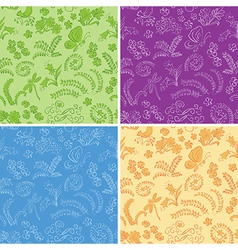 color floral seamless backgrounds with nature vector image