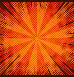 comic cool orange background vector image