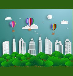 concept of ecology and save the environment vector image