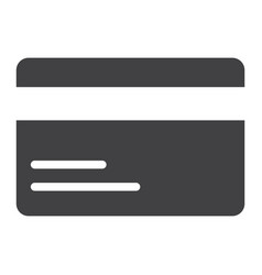 credit card glyph icon web and mobile pay sign vector image