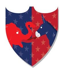 Democrat and Republican vector