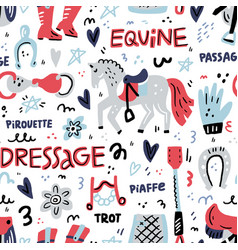 Dressage pattern vector