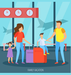 Family vacation orthogonal background vector