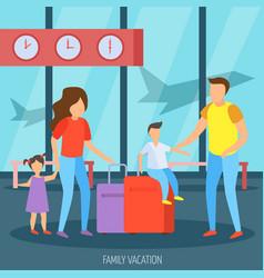 family vacation orthogonal background vector image