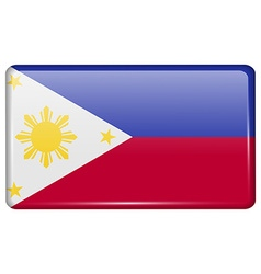 Flags Philippiines in the form of a magnet on vector