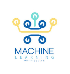 Flat minimal icon of machine learning and data vector