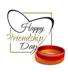 Friendship day lettering card typographic design vector