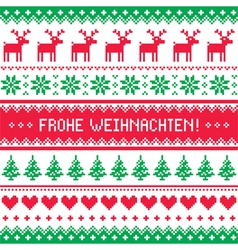 Frohe Weihnachten card - christmas pattern vector