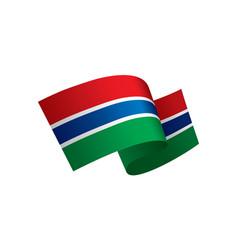 gambia flag vector image