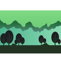 Game forest parallax background vector image