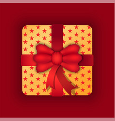 gift on holiday birthday or anniversary present vector image