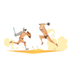 Gladiators composition vector