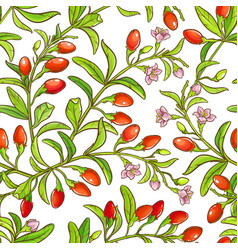 goji branch pattern vector image