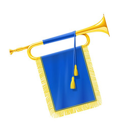 golden royal horn trumpet vector image