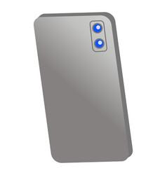 gray metal or plastic smartphone case with cameras vector image