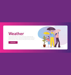 group family holding umbrella parent protect vector image