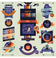 Halloween banners badges and design elements vector