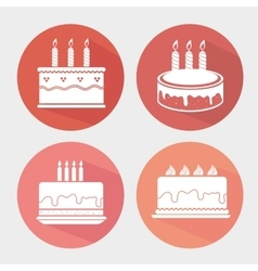 Happy birthday colorful card vector