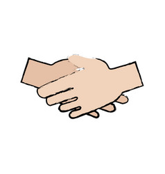 Help concept represented by hand shake icon vector