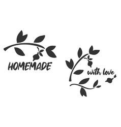 Homemade lemonade doodle logo label vector