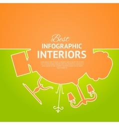 Interior circle infographics vector image