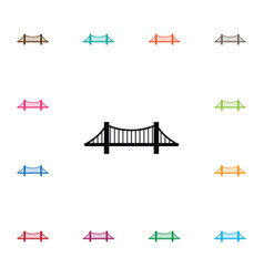 isolated monument icon bridge element can vector image