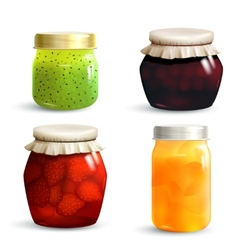 Jam Jar Set vector
