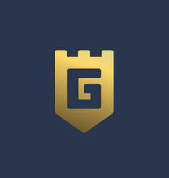 Letter g shield logo icon design template elements vector