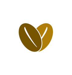 love coffee logo vector image