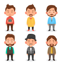men avatars in different outfits vector image